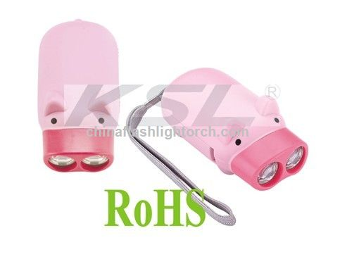 Pig flashlight, animal torch, piggy flashlight