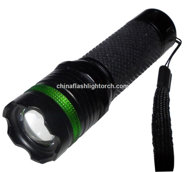 Mode LED Zoom Focus Flashlight Torch