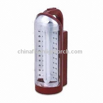 Emergency Lantern Fluorescent Tube and 40-piece LED, 6V 4Ah Lead-acid Battery