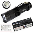 FordEx Group 7w 300lm Mini Led Flashlight Torch Adjustable Focus Zoom Light Lamp (3 Mode Black)