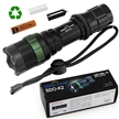 Sidiou Group Super Bright Cree T6 LED Flashlight torch 900 Lumens 7W Zoomable Torch With 1 x 3.7V 3000mAH 18650 Li-ion Rechargeable Battery