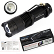 Sidiou Group Mini LED Torch 7W 300LM CREE Q5 LED Flashlight Adjustable Focus Zoom flash Light Lamp