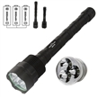 Sidiou Group Super Bright 3800Lm 3 XM-L T6 LED 5 Mode Extended Flashlight Torch