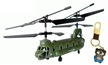 Sidiou Group S026 G 3-Channel RC Micro Chinook Gyro Helicopter Indoor design Including keychain and nail clippers