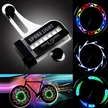 Sidiou Group multi-color 14 led bicycle spokes light hot wheels bicycle led spoke lights with 32 different patterns (14 Leds)