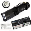 Sidiou Group Mini LED Torch 7W 300LM CREE Q5 LED Flashlight Adjustable Focus Zoom flash Light Lamp Black