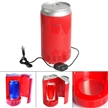Sidiou Group Portable USB PC Mini Fridge Cool Beverage Drink Cans Cooler and Warmer PC Gadgets Red