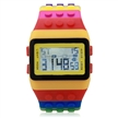 Sidiou Group Multi-Color Block Brick Style Wrist Watch with LED Night Light Yellow