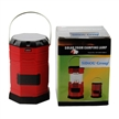Sidiou Group Portable Solar Charger Lantern LED Camping Lantern Rechargeable with charging cable and USB port Crank Light Lamp (Red)