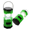 Sidiou Group Portable Solar Charger Lantern LED Camping Lantern Rechargeable with charging cable and USB port Crank Light Lamp (Green)