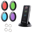 Sidiou Group 4-in-1 Wireless Key Finder Keys Caller Locator Pet Finder Alarm Kit with LED Flashlight