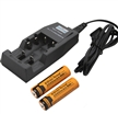 Sidiou Group Rechargeable 18650 3000 mAh 3.7V Li-ion Battery and Battery Charger with Protective Board