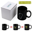 Sidiou Group Black Creative Light Bulb Glass Ceramic Mark Discoloration Heat Changing Coffee Mug Water Tea Cups (Light Bulb)