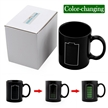 Sidiou Group Black Creative Battery Power Cup Glass Ceramic Mark Discoloration Heat Changing Coffee Mug Water Tea Cups (Battery Power)