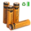 Sidiou Group Powerful 18650 Lithium Ion Battery Protected 3.7V 3000mAh Rechargeable Battery for LED flashlight torch (A Set of 4 Pieces)