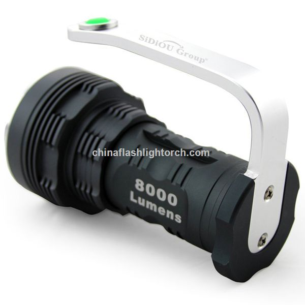 Sidiou Group NEW LED Flashlight Torch High-power Super Bright 8000 Lumens 6x Cree Xm-l T6 LED Flashlight Searchlight