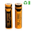 Sidiou Group 14500 Lithium Ion Battery 3.7V 600mAh Rechargeable Battery for LED torch(A Set of 4 Pieces)