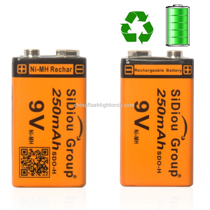 Sidiou Group 250mAh 9v Rechargeable Ni-MH battery 23F6-220 rechargeable battery Ni-MH universal battery